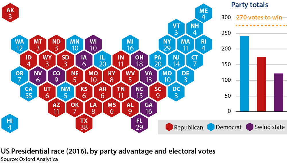 Prospects For US Politics To End Oxford Analytica Daily Brief - 2015 us election map