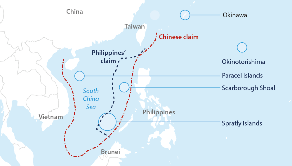 UNCLOS Ruling May Ease ChinaSoutheast Asia Tensions Oxford - Economic zones southeast asia map