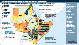 The worst-affected areas already face severe levels of food insecurity